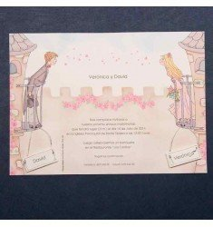 Wedding Invitation sweethearts balcony