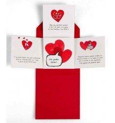 Invitación boda corazones