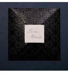 Invitación boda color negro