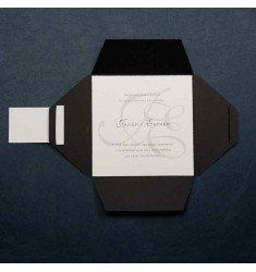 Invitació casament color negre