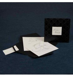 Wedding Invitation Color black