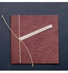 Wedding Invitation burgundy relief