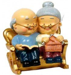 Figura pastel Bodas de Oro abuelos