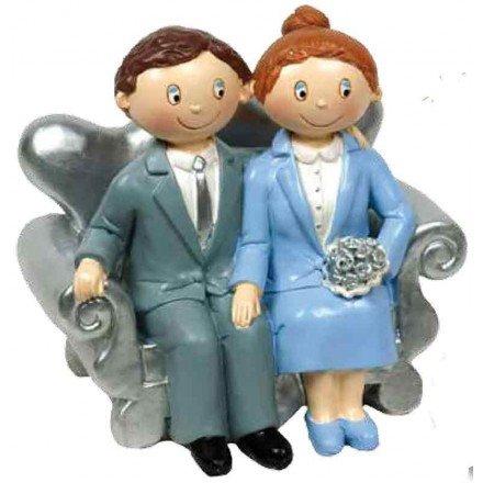 Figure cake Silver weddings model 2