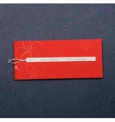 Invitación modelo rojo