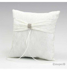 Moare Cushion alliances with brooch, ivory