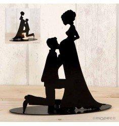 Figura pastís portavela núvia embarassada