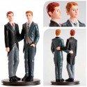Figura pastel Pareja de boda Gay Abrazados