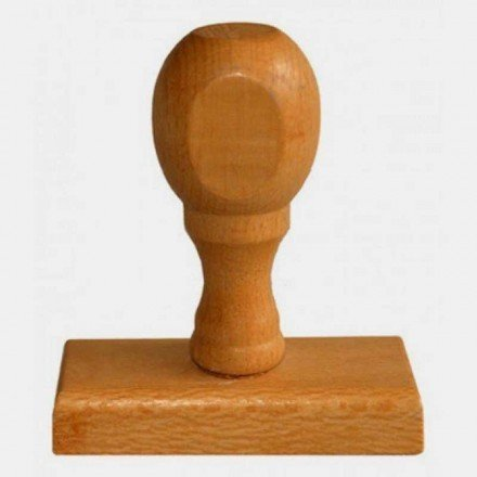Segell de goma mànec de fusta