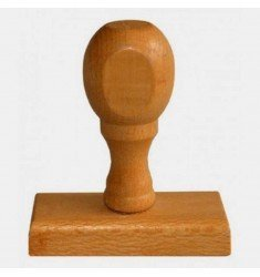 Rubber stamp wooden handle