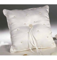 Cushion alliances embroidered pearls raw