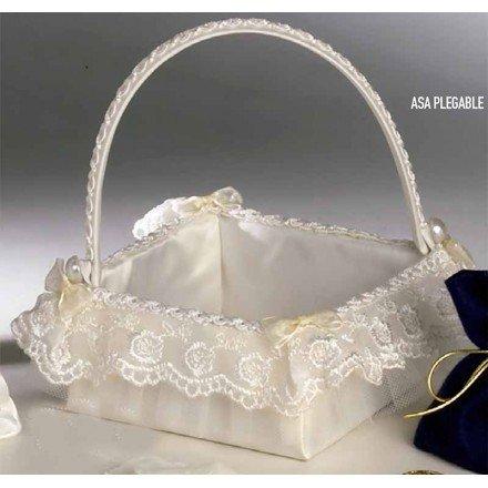 Basket spoon ivory folding handle