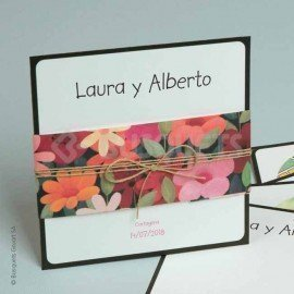 Wedding Invitation Happy Flowers