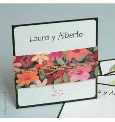 Invitación boda Happy Flowers