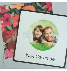 Invitación boda Happy Flowers