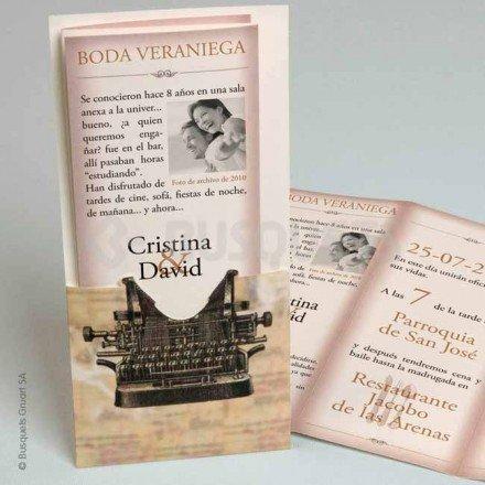 Invitación boda Lettera di Amore