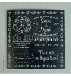 Invitación boda Pizarra