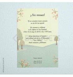 Invitació de casament campestre