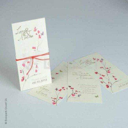 Invitació de casament farfalla