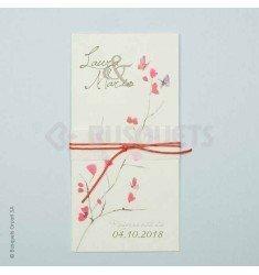 Invitación boda farfalla