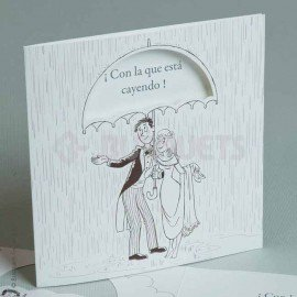 Wedding Invitation With the one falling down