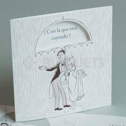 Invitació de casament Amb La Que aquesta Caient
