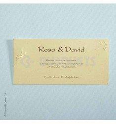 Invitación boda Buttons