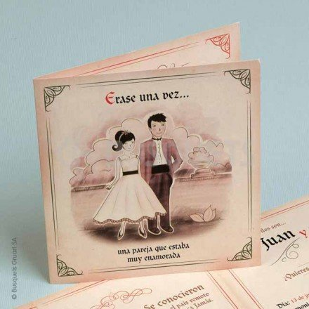 Wedding Invitation They ate partridges