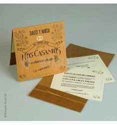 Wedding invitation KraftLove
