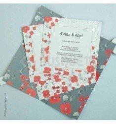 Invitació casament Sorpresa floral