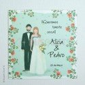 Invitació casament Floral