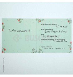 Invitación boda Floral