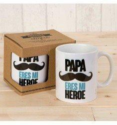"""Taza """"Papá eres mi héroe"""""""