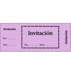 Talonario Invitación